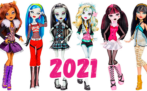 Monster High collector dolls 2021 - replicas of the original Monster High dolls
