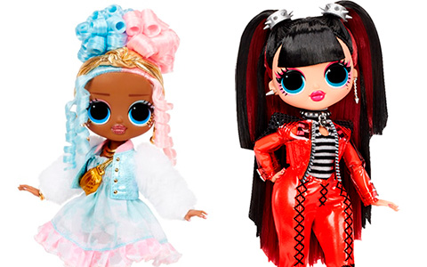 LOL OMG Series 4 dolls from opposite clubs: Sweets and Spicy Babe