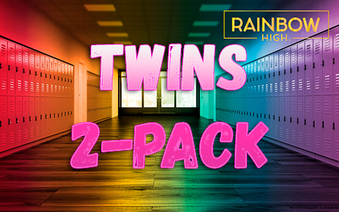 Rainbow High Twins 2-Pack doll set - NYTF Surprise