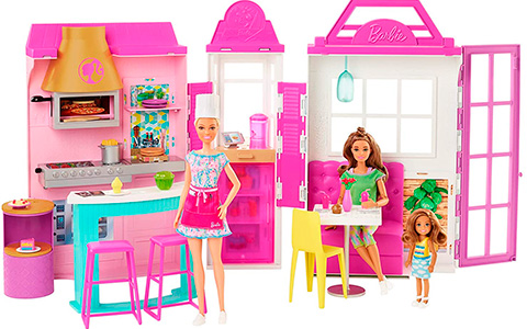 Barbie Cook 'N Grill Restaurant doll and playset
