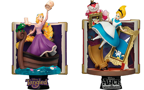 Beast Kingdom Disney Story Book Series Ariel, Rapunzel, Alice and Ursula statues