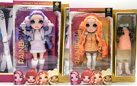 Rainbow High Winter Break dolls