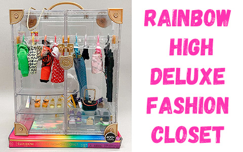 Rainbow High Deluxe Fashion Closet with 31+ Fashion & Accessory pieces
