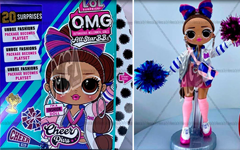LOL OMG All Star BBs Sports dolls: Gymnastics and Cheer Diva