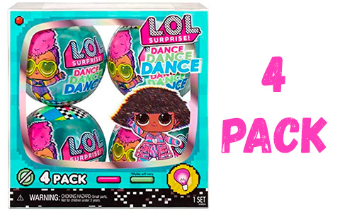 LOL Surprise Dance Dance Dance 4 pack