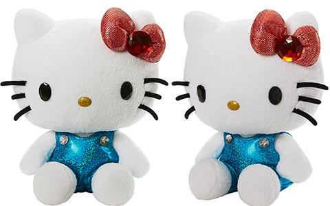 Mattel Hello Kitty plush doll in sparkling outfit