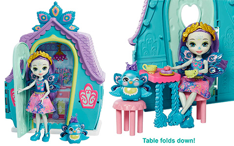 Enchantimals Patter Peacock Cottage with doll