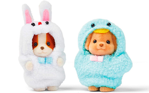 Calico Critters Limited Edition Costume Cuties - Bunny and Birdie, Veggie Babies