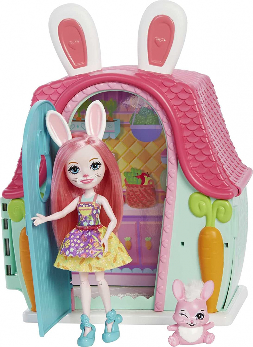 Enchantimals Bree Bunny Cottage with doll playset
