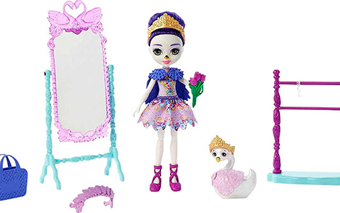 Royal Enchantimals Grande Ballet Studio Playset with Sarely Swan doll