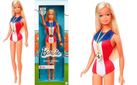 Barbie 1975 Gold Medal doll Reproduction is available now