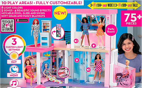 Barbie Dreamhouse 2021 with lights and sounds is available now