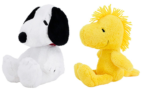 Peanuts plush collection with Snoopy, Woodstock, Lucy and Charlie Brown from Animal Adventure