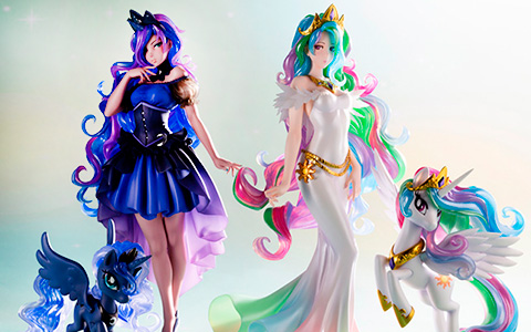 Kotobukiya My Little Pony Bishoujo Series Princess Luna and Princess Celestia figures
