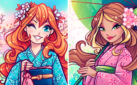Hanami Winx Club beautiful art